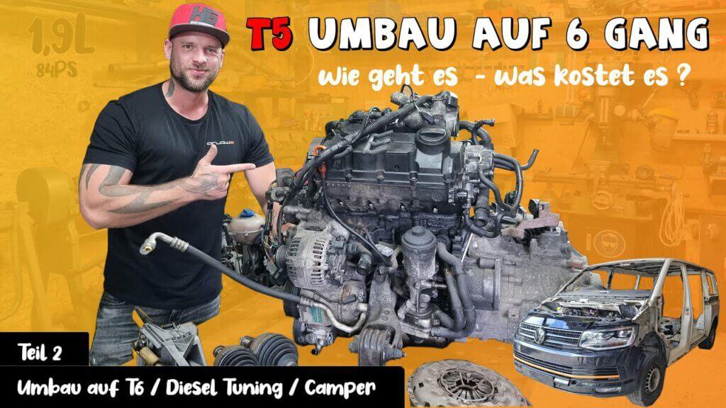 Der Getriebe Umbau – VW Bus T5 #2 René Bàuche